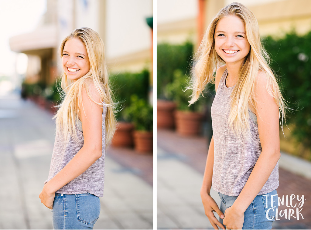Bay Area teen model headshot portfolio session in San Mateo by Tenley Clark Photography