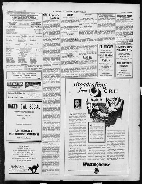 Daily Trojan, Vol. 18, No. 45, November 17, 1926