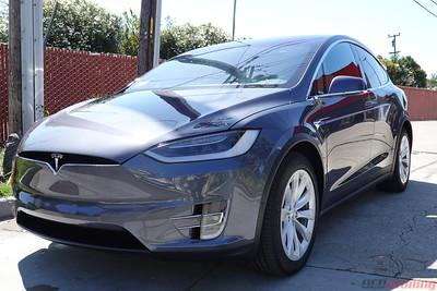 2019 Tesla Model X - Midnight Silver - Stek Dynoshield Full PPF Wrap with CQuartz Finest Reserve Coating