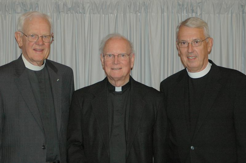 Former ELCA presiding bishop Herbert Chilstrom, former ELCA presiding bishop H. George Anderson and former secretary, Lowell Almen.