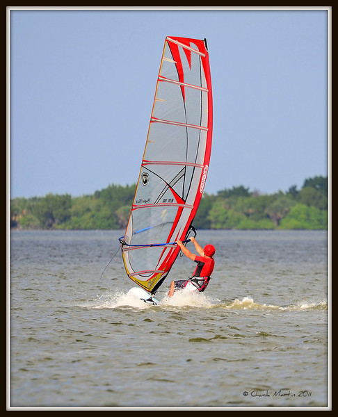 Unidentified Wind Surfer on the Indian River - Titusville, FL