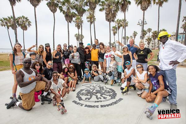 July 14,  2019 Venice Beach Skate Dance Plaza