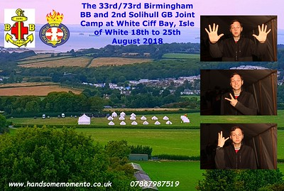 The 33rd/73rd Birmingham BB and 2nd Solihull GB Joint Camp at White Ciff Bay, Isle of White 18th to 25th August 2018