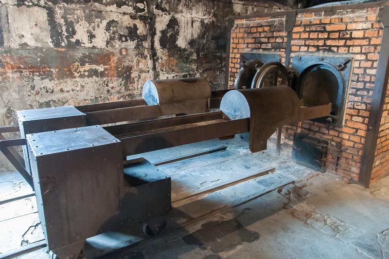 The crematorium at Auschwitz Birkenau in Krakow, Poland