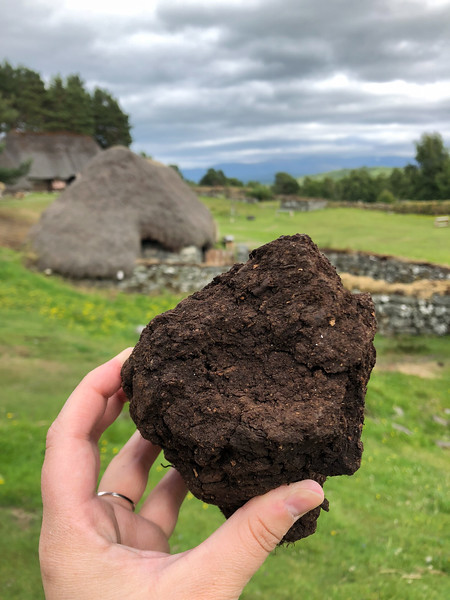 Peat at the Highland Folk Museum
