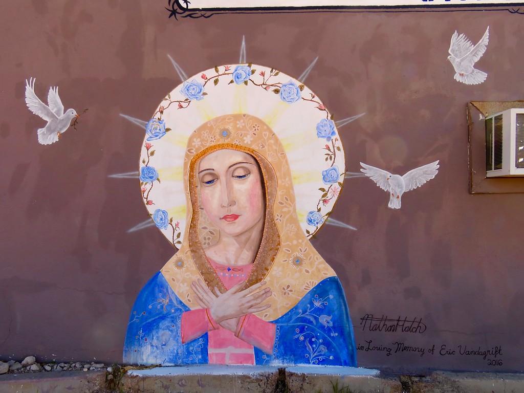 virgin mary mural in kingman arizona
