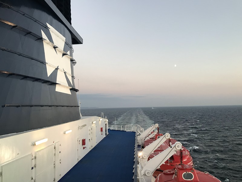 on the overnight ferry to Oslo