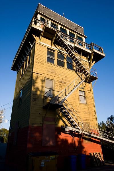 creepy guard tower