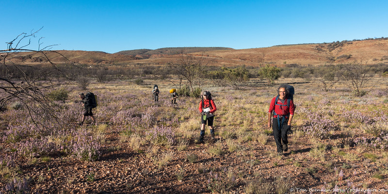 Setting off on the first day from the Ochre Pits