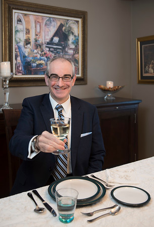 DAVID LIPNOWSKI / WINNIPEG FREE PRESS  Jesús Ángel Miguel-García  of the Spanish Institute at his home Friday February 17, 2017. For a feature on etiquette, protocol and manners.  For Al Small story