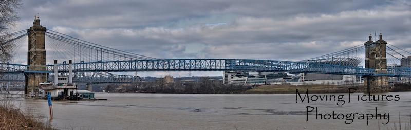 John A. Roebling Suspension Bridge - January, 2012