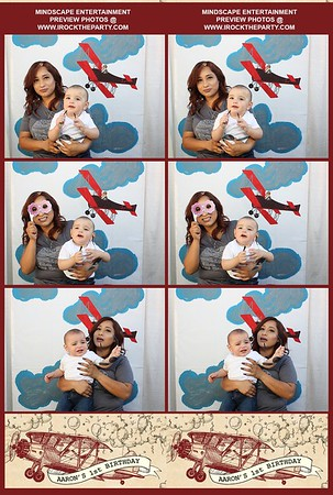 Aaron's 1st Birthday Party - Photo Booth Pics