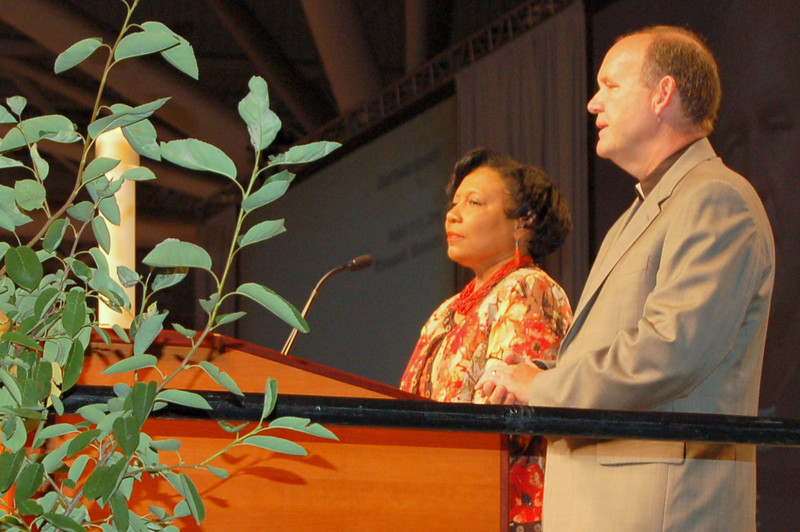 Pastor John Richter and Dr. Phyllis Wallace, co-chairs of the Memorials Committee, gave an overview of how the committee approached its work.