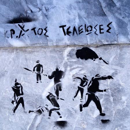 Spraycan Protest: Stencil Graffiti in Greece - 2017