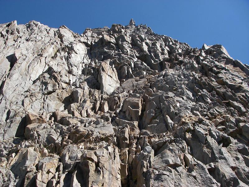 Towards Thunderbolt Peak from Palisade Basin