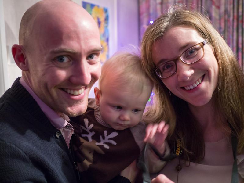 James and Sarah with Arhur