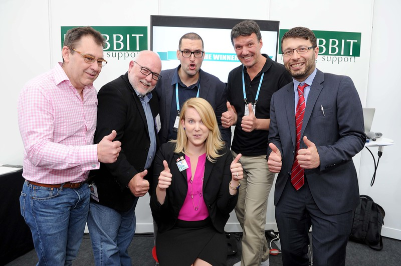 The Event Technology Startup Competition celebrate with the winner