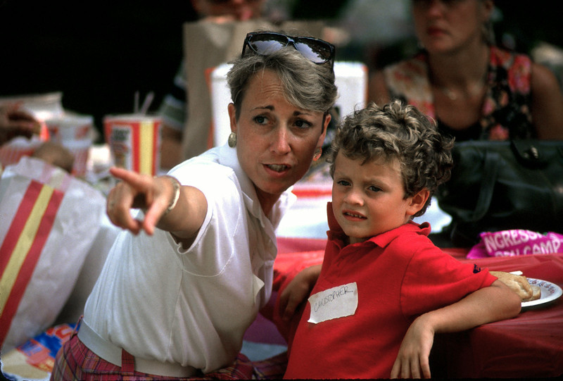 Donna Derr Naybor and son