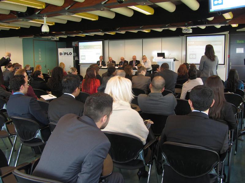 Panelists during the Persuasion Seminar, April 2013, Geneva