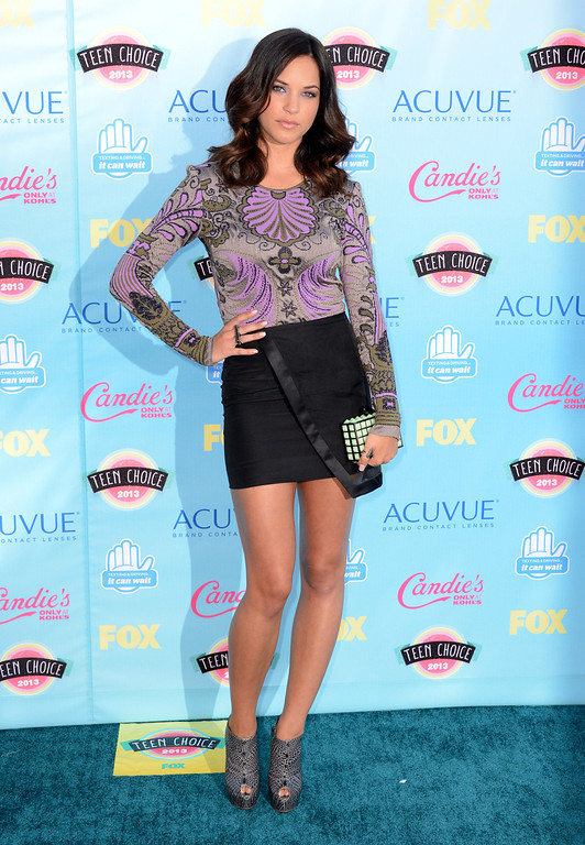 . Alexis Knapp arrives at the Teen Choice Awards at the Gibson Amphitheater on Sunday, Aug. 11, 2013, in Los Angeles.(Photo by Jordan Strauss/Invision/AP)