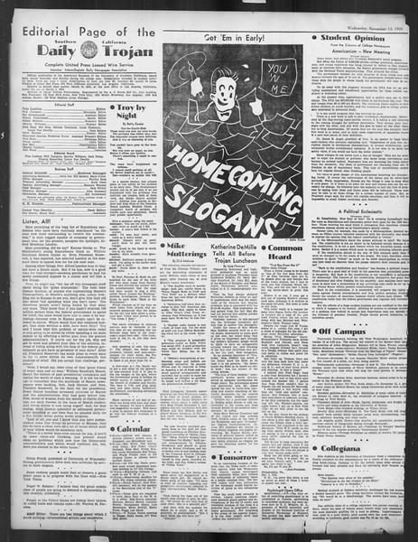 Daily Trojan, Vol. 27, No. 37, November 13, 1935