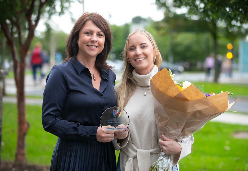 26/09/2019. Nurses Graduation at University Hospital Waterford are Gwen Daniels Director of Nursing UPMC Whitfield Hospital presents Fiona Scanlon, Staff nurse, Medical 2, University Hospital Waterford with the Inaugural award Preceptor of the year award. Picture: Patrick Browne