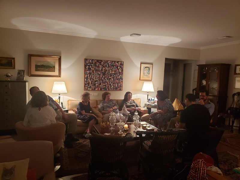 """dinner with cousins at """"Lolo's"""" apartment"""
