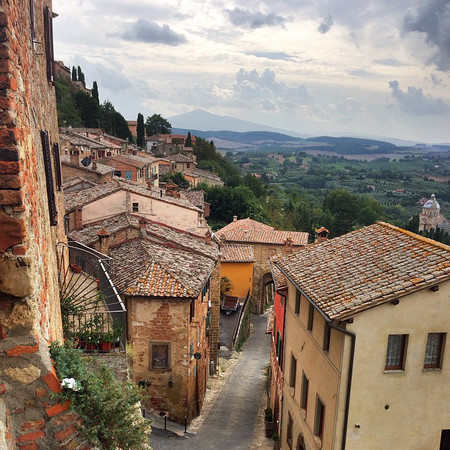 Montepulciano, a hill towni in Southern Tuscany