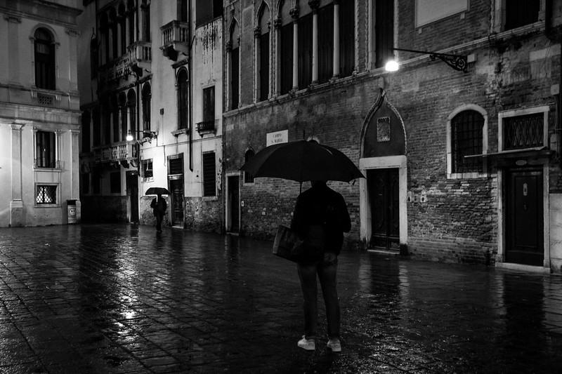 Duelling umbrellas