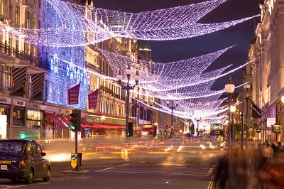Regent Street at Christmas, London, United Kingdom