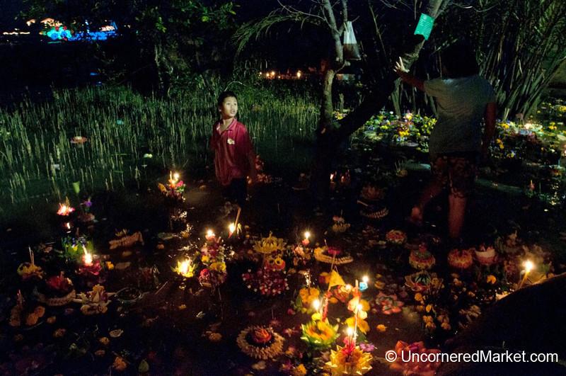 Working the Waters on Loi Krathong Festival - Bangkok, Thailand