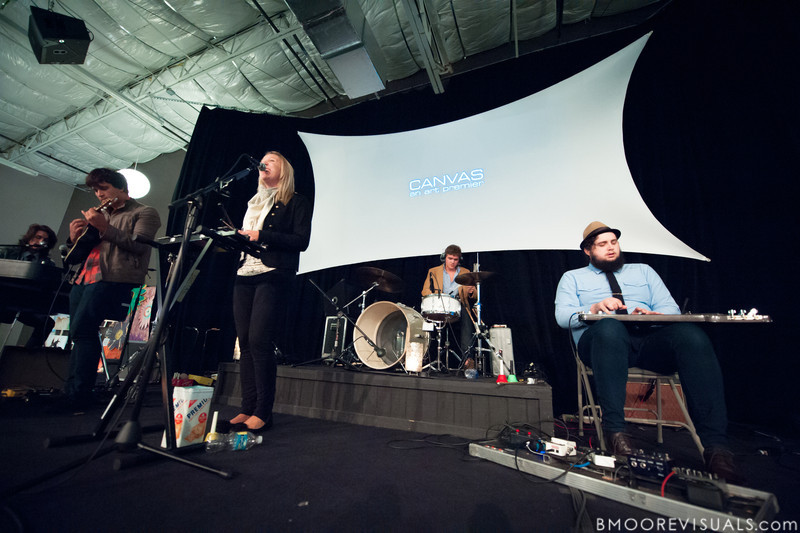 Sean Curran, Josh Luker, Melissa Mage, Kenny Werner, and Zach Glotfelty of Bellarive perform on November 5, 2010 during Canvas at Element Church in Tampa, Florida