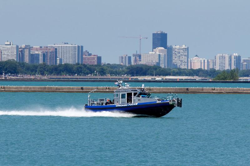 Chicago Police Marine Unit fast patrol boat.