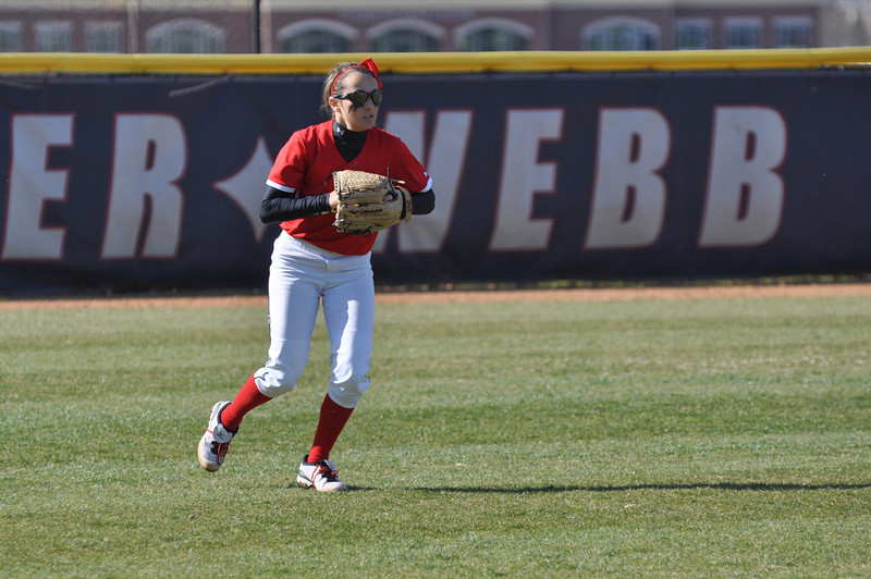 Kellie Beres runs to pick up a catch in the outfield against USC Upstate Thursday March 7, 2013.