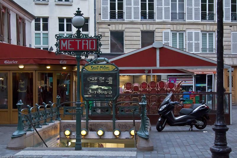 Paris. Rue Danton in the morning