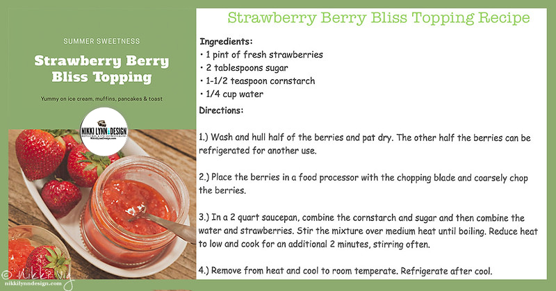 Strawberry Berry Bliss Recipe Card