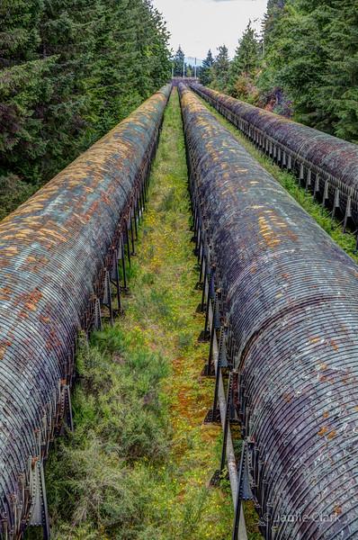 Water Pipes. Elk Falls Provincial Park, British Coumbia
