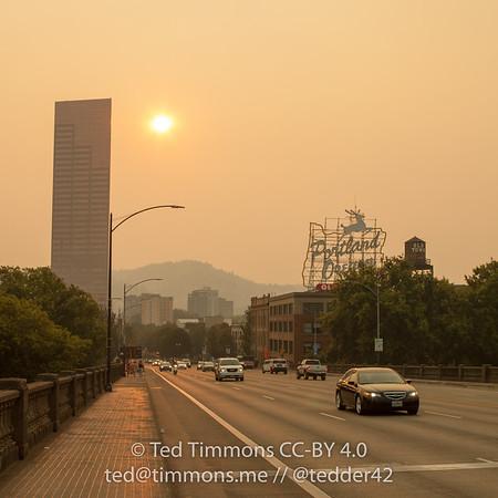 wildfire smoke 20150822