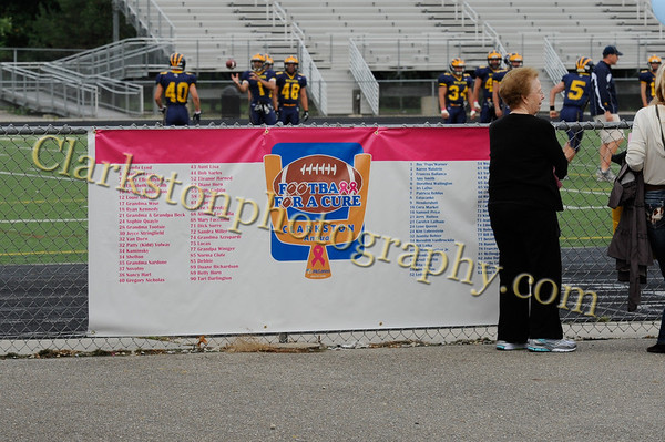 2012 Clarkston Varisty Footbal - Game for a Cure