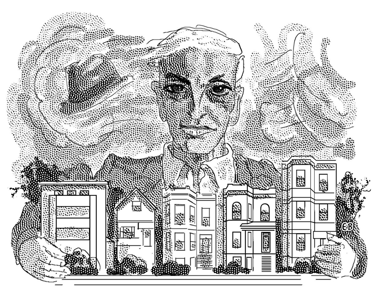 Saul Bellow; illustration from the Claremont Review of Books, Winter 2015-2016