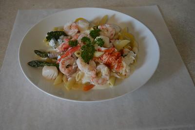 Seafood Primavera Pasta