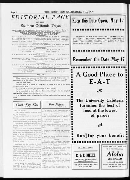 The Southern California Trojan, Vol. 7, No. 112, May 05, 1916