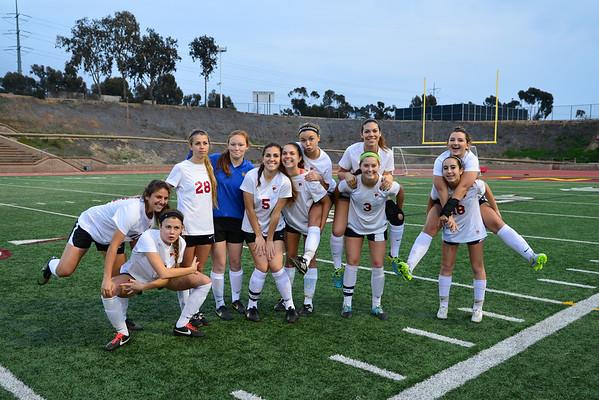 TP Girls Soccer Senior Night, 2-20-15