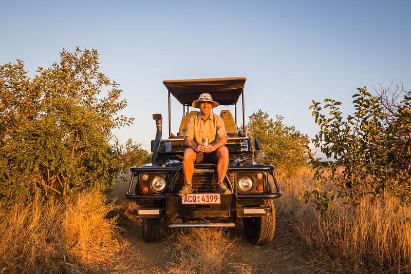 David Stock on safari in Zimbabwe