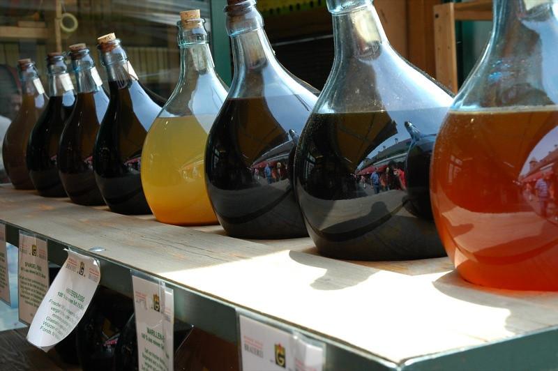 Vinegars and Extracts at Vienna Naschmarkt - Vienna, Austria