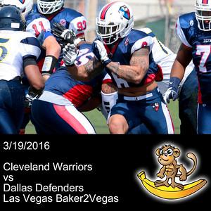 2016-03-19 Cleveland Warriors vs Dallas Defenders