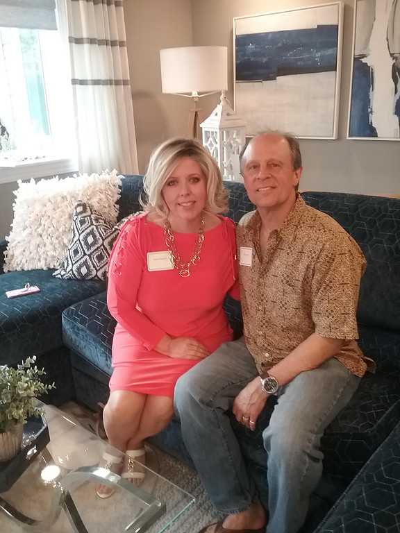 . Diana Kresnye and B.J. Kresnye of Chester Township are pictured in the lower level of the Dream House. Diana is a former Dream House designer. (Jean Bonchak)