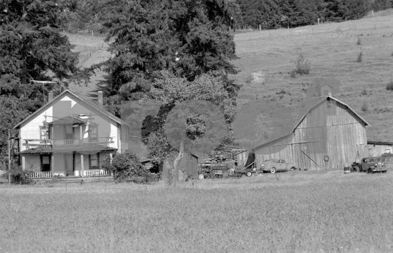 A old house on #501 Downing Street in Centralia, Washington State in 1971.