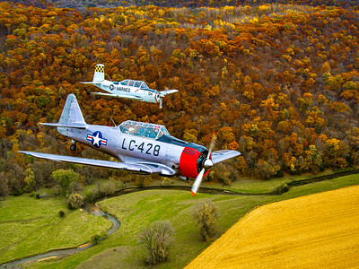 T-6 Thunder Fall Color Flight 2019