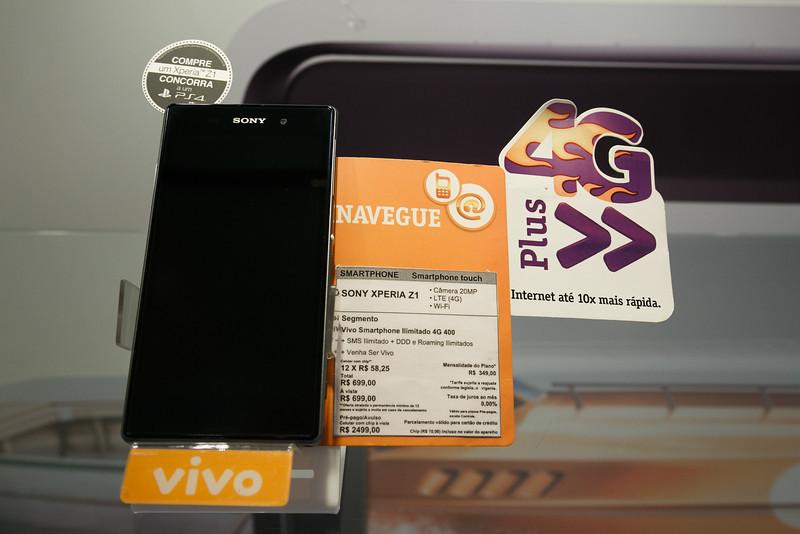 Lançamento Sony Xperia Z1 - Vivo Morumbi Shopping 12/02/2014. Foto: Murillo Medina.
